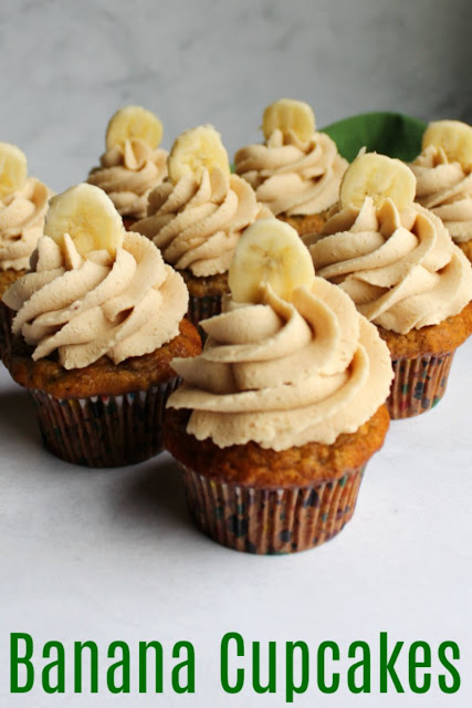 Banana cupcakes are soft and delicious. They are easy to make and are a perfect way to use up ripe bananas. Plus they are perfect with so many different frosting options!