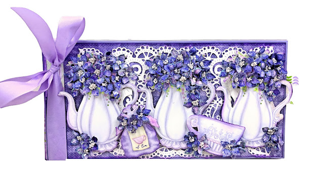 Lush Lilac Tea Party Card by Kathy Clement for Really Reasonable Ribbon