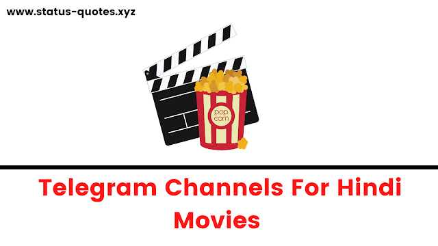 Telegram Channels For Hindi Movies ( Bollywood Movies Telegram Channels )