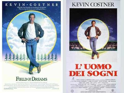 La locandina di ''Field of dreams'', in italiano ''L'uomo dei sogni''