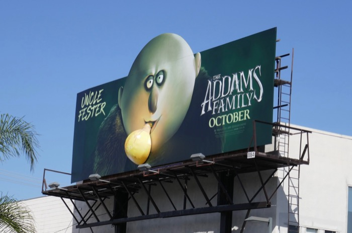 Addams Family Uncle Fester lightbulb billboard