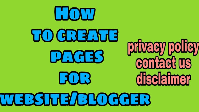 How to create pages for your website