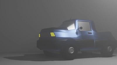 Camioneta - Low Poly - 001 - 001