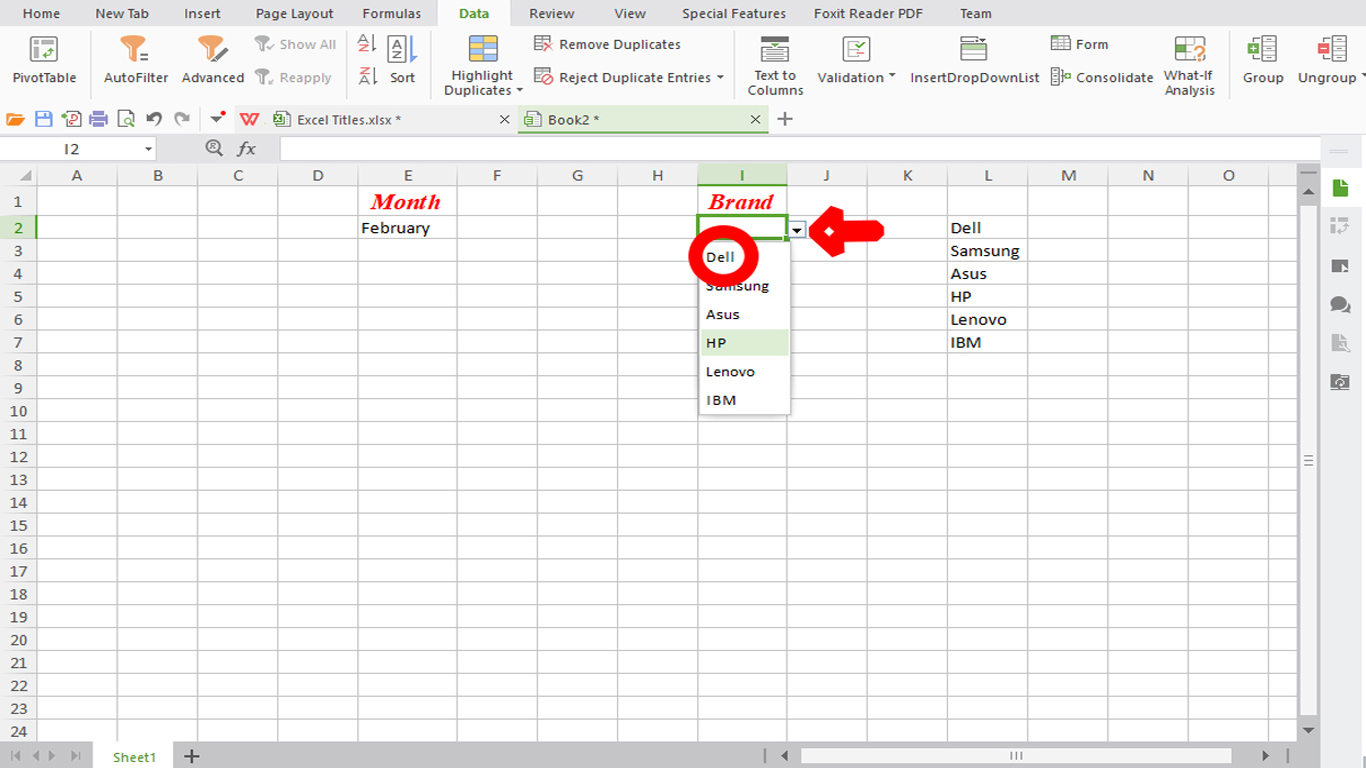 How to create a Drop-down List in Excel (Absolute beginner)