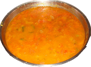 Nutritious Soybean Vegetable Recipe with Onion Tomato Capsicum puree in Hindi and English ||