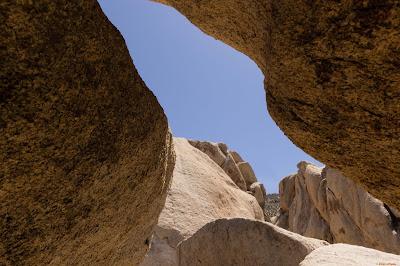 A cave shaped like a bat in Joshua Tree National Park, CA