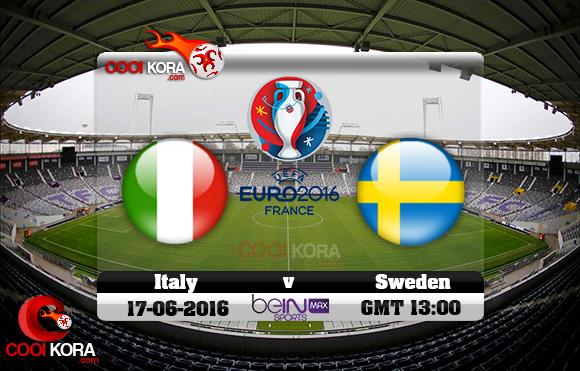 مشاهدة مباراة إيطاليا والسويد اليوم 17-6-2016 بي أن ماكس يورو 2016
