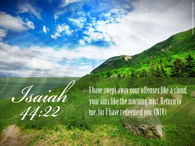 Isaiah 44:22 Desktop Encouraging Bible Verse Wallpaper