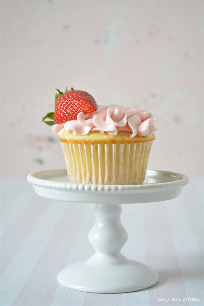 Strawberry Rhubarb Cupcakes, Valentines Cupcakes, Strawberry Cupcakes, High Altitude Strawberry Cupcakes