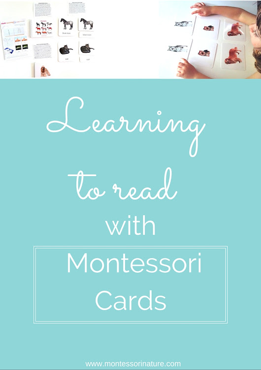 Learning To Read With Montessori Cards.