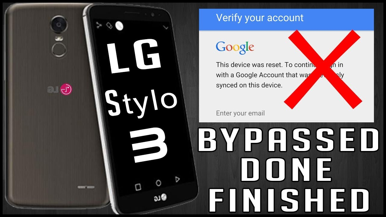 How to Bypass FRP LG Stylo 3 LS777 All Scurty | Google