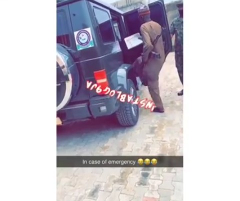 Nigeria's React As Minister Of Defense Seen Carrying His Weapon In His Car.
