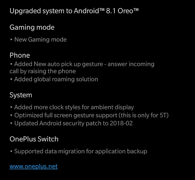 Android 8.1 OxygenOS Beta 4 is Live for OnePlus 5T