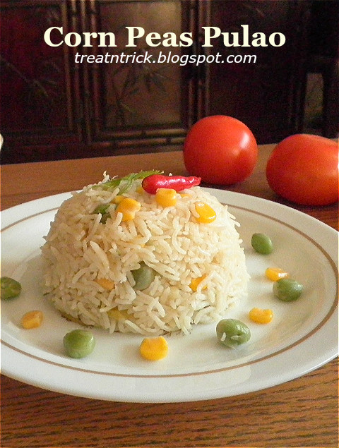 Corn Peas Pulao Recipe @ treatntrick.blogspot.com