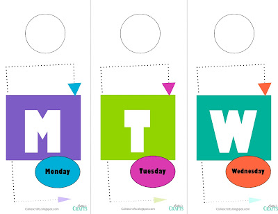 Free Printable: Daily Hanger Tags