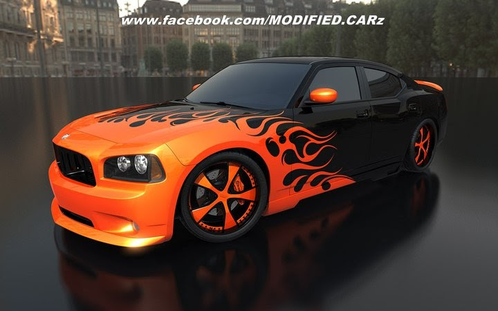 Dodge Charger Orange Modified Modified Cars And Auto Parts