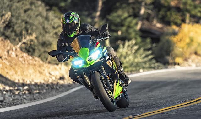 Kawasaki Ninja 650 2020 lampu led nyala