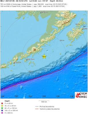8.2 magnitude earthquake off Alaskan peninsula, tsunami warning