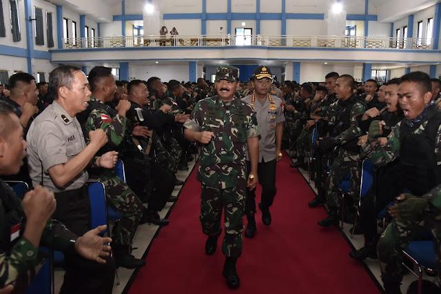 Panglima TNI Tegaskan Sinergitas TNI-Polri Sampai Akhir Hayat