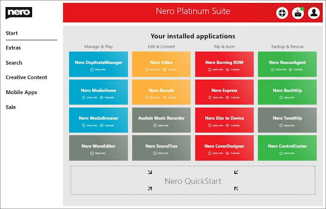 Screenshot Nero Platinum Suite 2020 v22.0.00900 Full Version