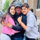 ronit roy with her children