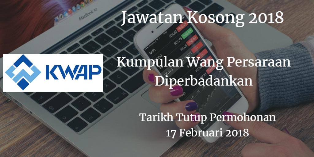 Jawatan Kosong KWAP 17 Februari 2018