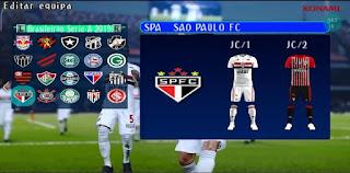 NOVO PES 2021 PARA ANDROID PPSSPP COM +FACES REALISTAS BRASILEIRÃO A e B EUROPEUS +DOWNLOAD/DESCARGA