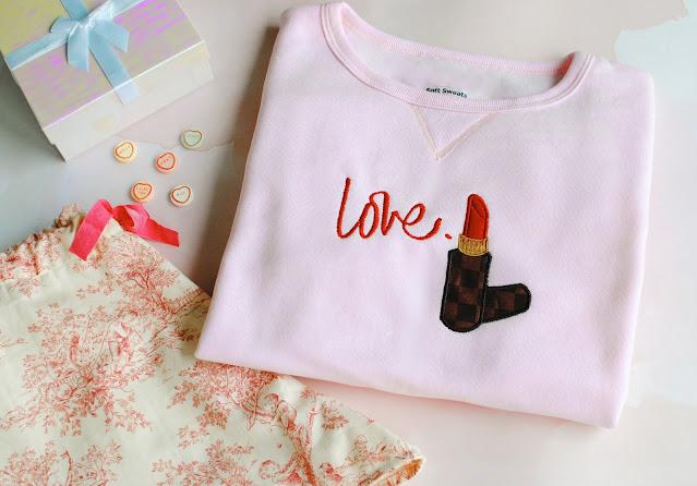Machine Embroider a Sweatshirt: Valentine's Day Inspired