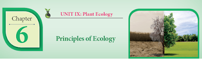 CLASS 12 BIOLOGY BOTANY - CHAPTER 6 PRINCIPLES OF ECOLOGY - 1 MARK QUESTIONS - ONLINE TEST