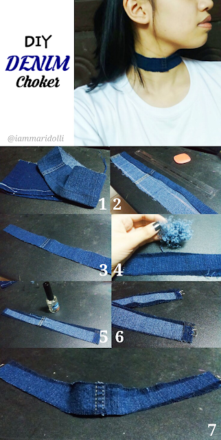 DIY How to Make Denim Choker