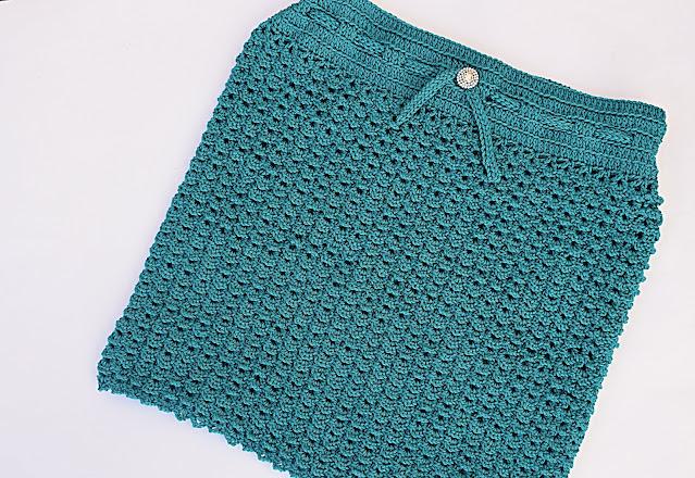 4 - Crochet Imagen Falda verde a crochet y ganchillo sencilla facil DIY por Majovel Crochet