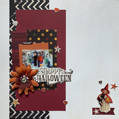 Bo Bunny & Simple Stories Halloween Single Page Layout