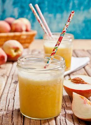 Suco de Laranja, Abacaxi e Pêssego (vegana)