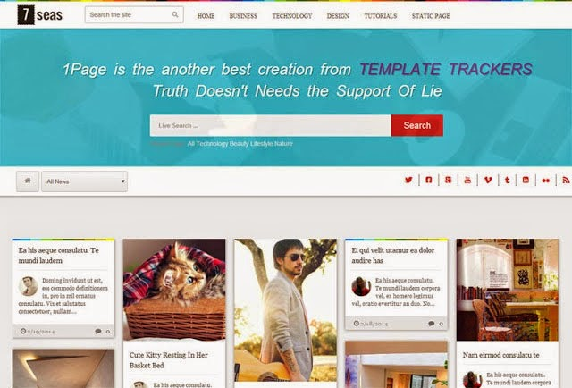 7seas Blog Free Blogger Template