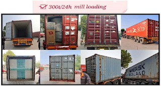 300t/24h maize mill plant loading