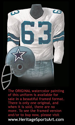 Dallas Cowboys 1967 uniform
