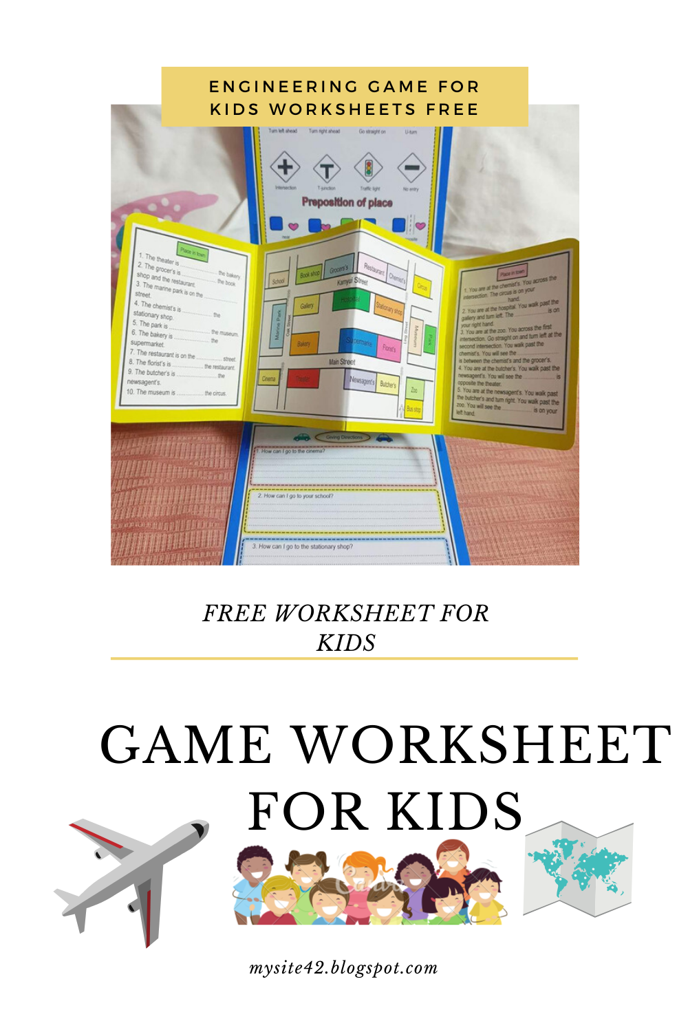 Engineering game for kids worksheets printable free