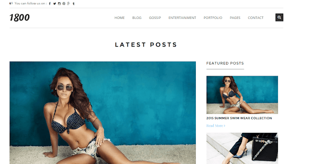 1800 OutFit Of The Day Blogger Template