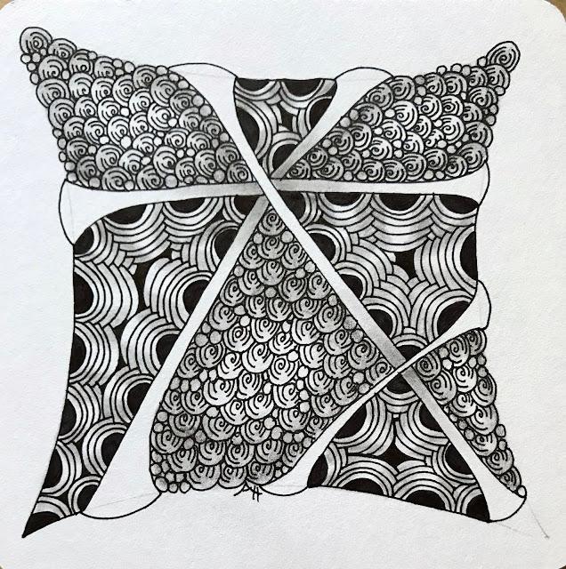 Alice Hendon, Diva Challenge 365 Back to Basics, Zentangle tile