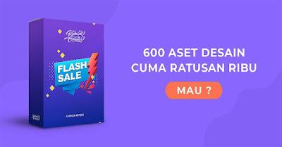 600 Aset Grafis dan Font dengan Kualitas Standar Internasional Dijual Murah