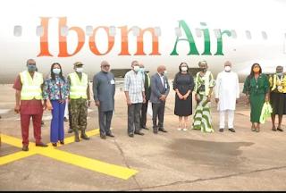 Governor Ugwuanyi welcomes Ibom Air to Enugu