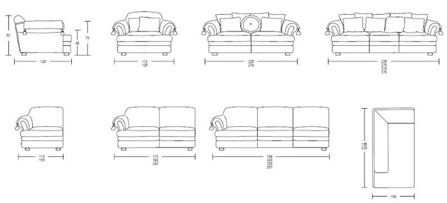 Size and Dimension Of Sofa