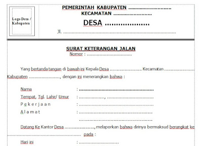 Contoh Surat Jalan Dari Desa Untuk Berbagai Keperluan