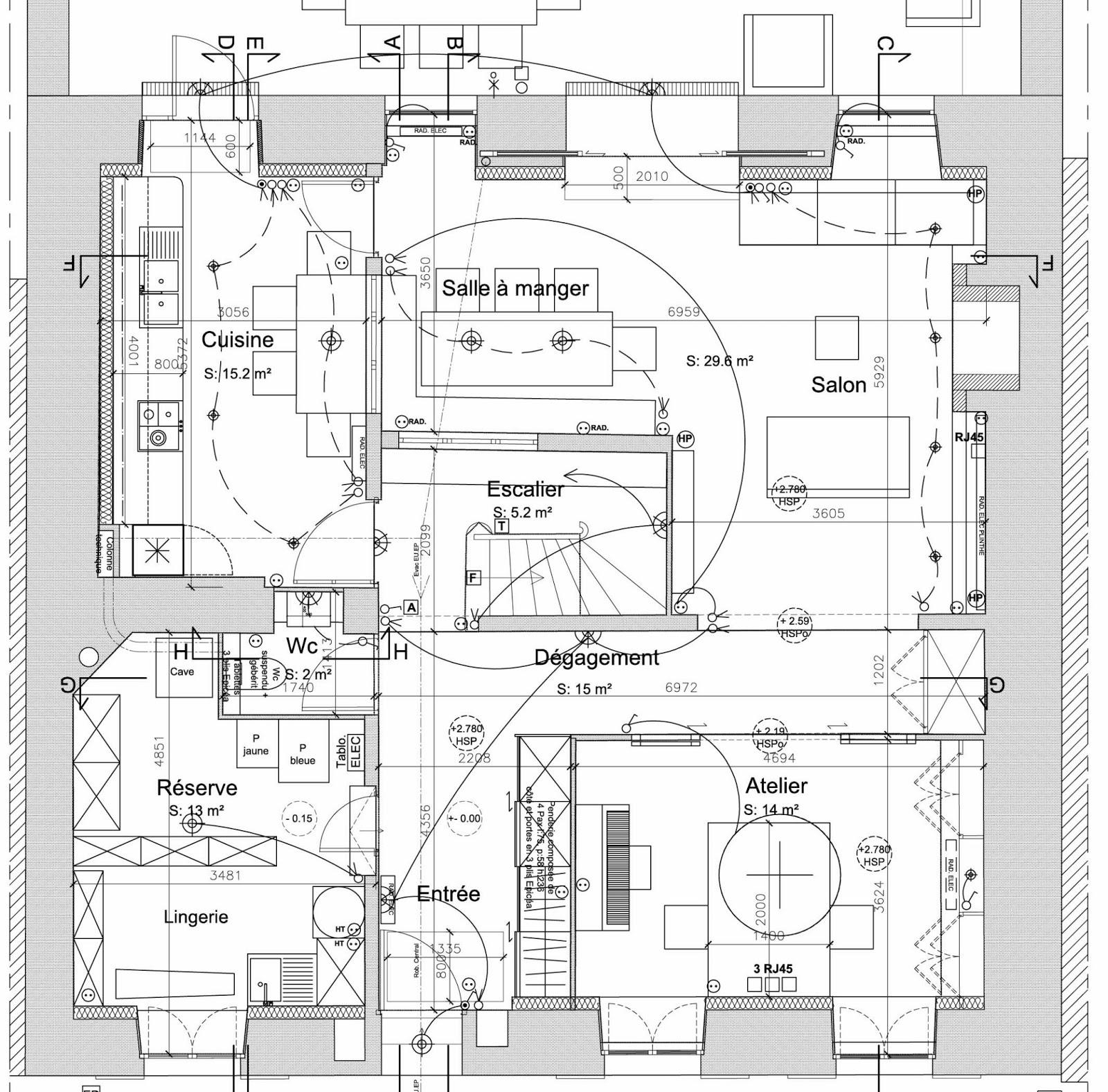plan maison suite parentale rdc