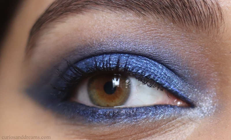 Blue Eyeshadow makeup tutorial, Blue Eyeshadow Look for indian skin tones