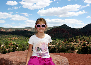 A quick snapshot of Tessa at a roadside overlook in Sedona.