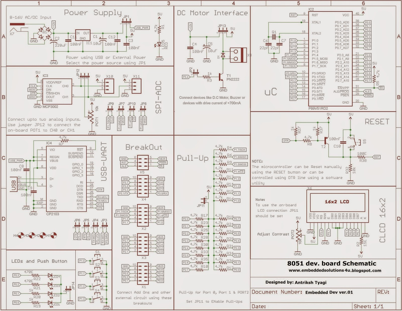 small resolution of 8051 board circuit diagram