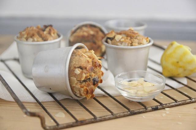 Muffins citron, amande et cerises amarena (vegan)