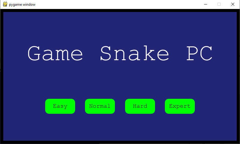 Tingkat Kecepatan Game Snake Python