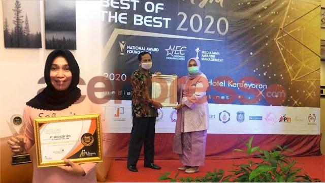 DR. (Cn) Hj.Rizayati., SH,.MM Presdir Dirut PT.Imza Rizki Jaya Group,  Perempuan Inspiratif raih terbanyak Reward Bergensi Nasional